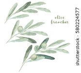 watercolor illustration with... | Shutterstock . vector #580224577