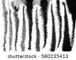 watercolor zebra stripes... | Shutterstock . vector #580235413