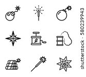spark vector icons. set of 9... | Shutterstock .eps vector #580239943