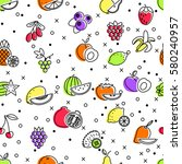 seamless pattern of linear... | Shutterstock .eps vector #580240957