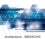 abstract background technology... | Shutterstock .eps vector #580242193