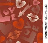 vector illustration. valentine... | Shutterstock .eps vector #580243333