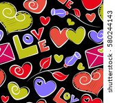 valentines day vector... | Shutterstock .eps vector #580244143