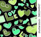 design for valentines day... | Shutterstock .eps vector #580244947