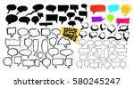 set of sketchy hand drawn... | Shutterstock .eps vector #580245247