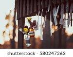 details on rustic autumn wedding | Shutterstock . vector #580247263