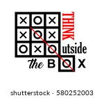think outside the box text... | Shutterstock . vector #580252003