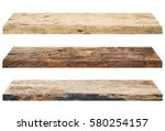 wooden shelves isolated on a...   Shutterstock . vector #580254157
