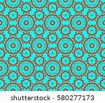decorative wallpaper design in... | Shutterstock . vector #580277173