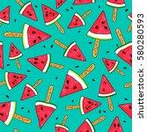 seamless vector pattern of... | Shutterstock .eps vector #580280593