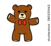 cartoon teddy bear vector... | Shutterstock .eps vector #580335463