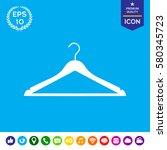 clothes hanger silhouette | Shutterstock .eps vector #580345723