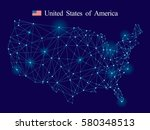 usa map | Shutterstock .eps vector #580348513