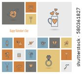 simple flat icons collection... | Shutterstock .eps vector #580361827