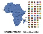 africa map and flags | Shutterstock .eps vector #580362883