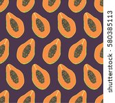 seamless vector pattern. exotic ... | Shutterstock .eps vector #580385113