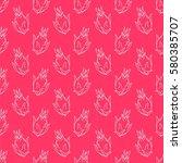 seamless vector pattern. exotic ... | Shutterstock .eps vector #580385707