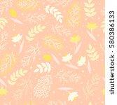 seamless pattern. flower spring ... | Shutterstock .eps vector #580386133