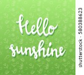 hello spring poster with...   Shutterstock .eps vector #580388623
