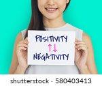 emotional choices positivity...   Shutterstock . vector #580403413