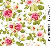 elegance seamless floral... | Shutterstock .eps vector #580406797