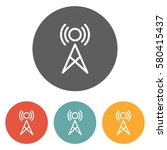 antenna icon  | Shutterstock .eps vector #580415437