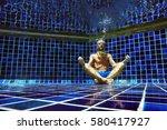 Man Underwater Portrait In Yog...