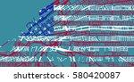 detailed vector map of... | Shutterstock .eps vector #580420087