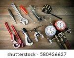repair air conditioner tools. | Shutterstock . vector #580426627