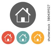 home icon  | Shutterstock .eps vector #580439527