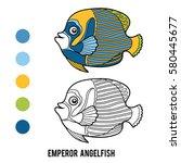 coloring book for children ... | Shutterstock .eps vector #580445677