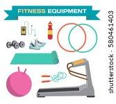 sport and fitness equipment.... | Shutterstock .eps vector #580461403