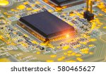electronic chip and standard... | Shutterstock . vector #580465627