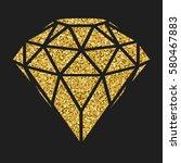 geometrical golden glitter... | Shutterstock .eps vector #580467883