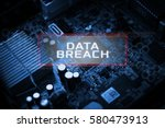 Small photo of Digital Business and Technology concept, Virtual screen showing DATA BREACH.