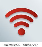 wireless and wifi icon symbol... | Shutterstock .eps vector #580487797
