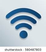 wireless and wifi icon symbol... | Shutterstock .eps vector #580487803