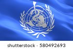 world health organization flag. ... | Shutterstock . vector #580492693