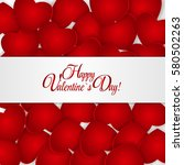 happy valentines day card with... | Shutterstock . vector #580502263