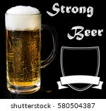beer logo on a black background ... | Shutterstock . vector #580504387