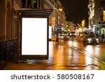 blank advertising light box on... | Shutterstock . vector #580508167