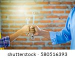 concept photography of a team... | Shutterstock . vector #580516393