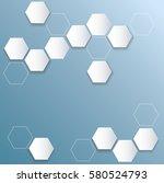 abstract bee hive  hexagon... | Shutterstock .eps vector #580524793