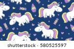 vector baby seamless pattern...   Shutterstock .eps vector #580525597