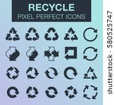 set of pixel perfect recycle... | Shutterstock .eps vector #580525747