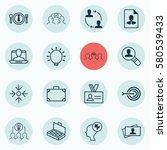 set of 16 business management... | Shutterstock . vector #580539433