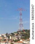Huge Pylon And Power Line Abov...