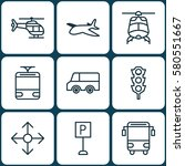 set of 9 delivery icons.... | Shutterstock . vector #580551667