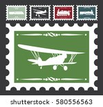vintage stamps set with... | Shutterstock .eps vector #580556563