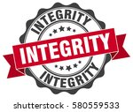 integrity. stamp. sticker. seal.... | Shutterstock .eps vector #580559533